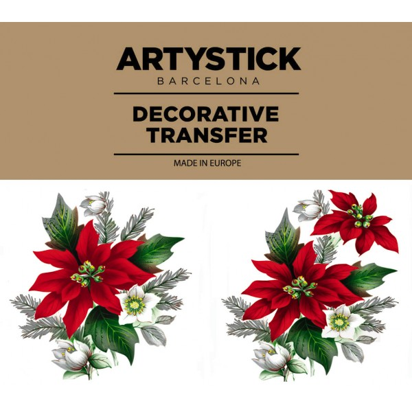 POINTSETTIA are CAR STICKERS DECALS to decorate your helmet ...